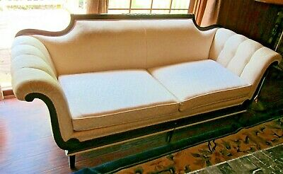 Vintage  Federal Style Carved Mahogany Sofa.