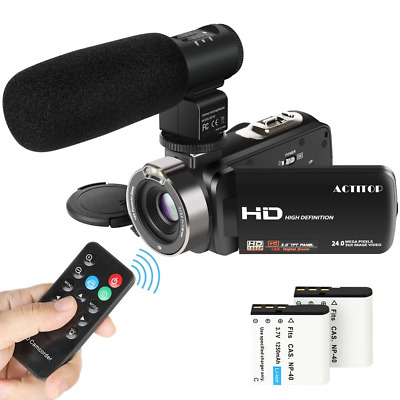 Video Camcorder, ACTITOP FHD 1080p Camera Camcorder 24MP 16x Digital Zoom with