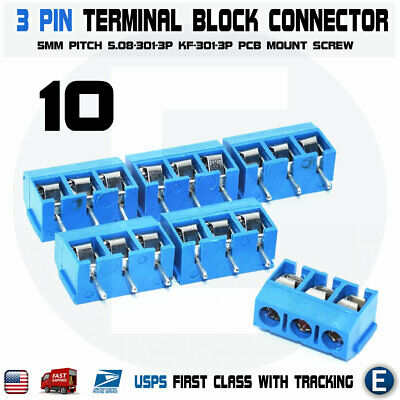 PCB Terminal Block Screw Connector 2//3//4//5//8//9//10//12 Pin KF2EDGK 5.08mm Pitch IL