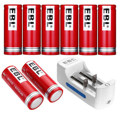 1600mAh 18500 Battery Li-ion Rechargeable + Dual Charger For 10440/18500/18650