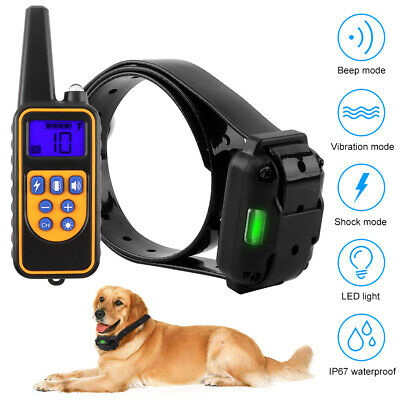 Rechargeable Electric Safe Shock Dog Training Collar Anti Bark Remote Control