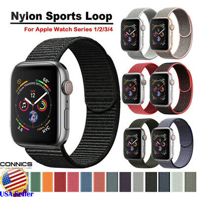38/42/40/44mm Replacement Woven Nylon Band For Apple Watch Sport Loop Series 5/4