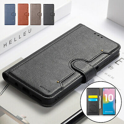 For Samsung Note 10 Plus S8 S9 Flip Leather Wallet Magnetic Phone Case Cover