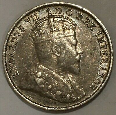1910 Canada 🇨🇦 5 Five Cents Silver Coin Half Dime KM#13 UnCirculated?