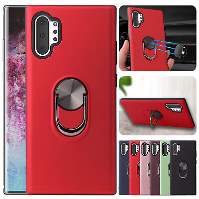 For Samsung Galaxy Note 10 Plus Magnetic Hybrid Ring Holder Stand Case Cover
