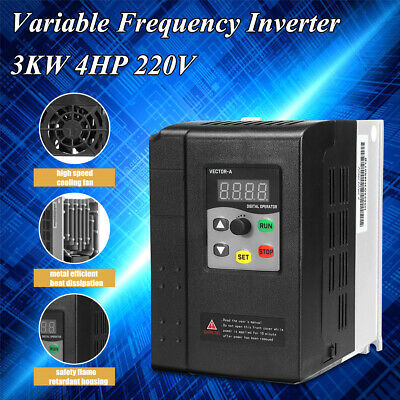 3KW 4HP 220V 13A 1 To 3 Phase Variable Frequency Inverter Motor Drive VSD VFD