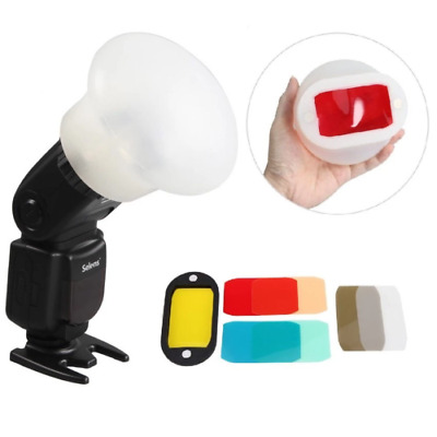 Selens Magnetic Flash Modifier Sphere Diffuser Filter Gel Band Snoot for Flash