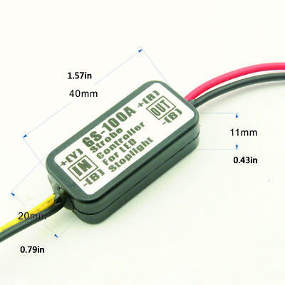 GS-100A Car Motorcycles LED Brake Stop Light Strobe Flashing Controller Box S*RS