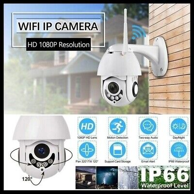New IP Camera Onvif WiFi 2MP HD 1080P Wireless Speed Dome CCTV Exterior TF Card