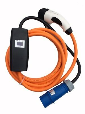 32amp 7kw EV / PHEV charging cable portable charger, Commando / CEE to Type 2