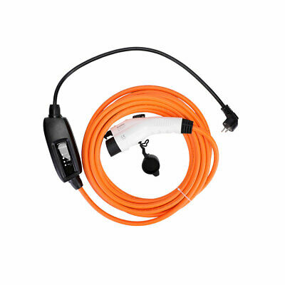 EV charging cable for Nissan Leaf, 16 amp, EU Schuko to Type 1 charger, 5m
