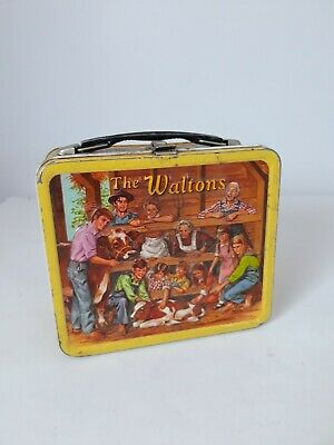 VINTAGE 1973 THE WALTONS Metal Tin LUNCHBOX Aladdin Industries Incorp