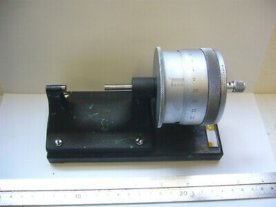 """Vintage 'MOORE & WRIGHT' BENCH TOP MICROMETER  1 - 2"""" + STAND      (4492)"""