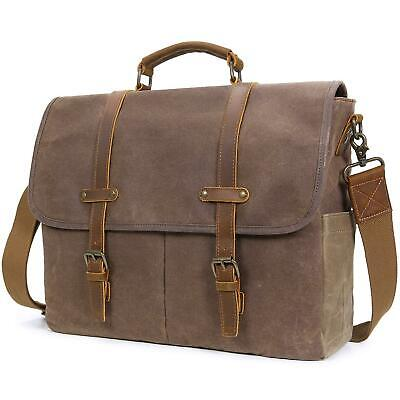 047c32d1be02 LIFEWIT 15.6 INCH Water-Proof Waxed Canvas Laptop Messenger Bag ...
