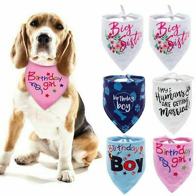 Cartoon Bandana-Style Pet Dog Collars Cat Puppy Birthday Neck Scarf Neckerchief