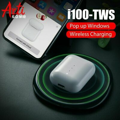 i100 TWS Airpod Bluetooth 5.0 Earphones For IPhone Phone With Wireless Charging