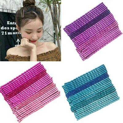 24Pcs/Pack Candy Color Hair Clips Bobby Pins Wavy Hairpins Metal Barrettes