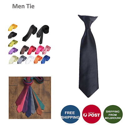 Mens SKINNY TIE Plain Wedding Slim Necktie Formal Casual Narrow Party men's tie