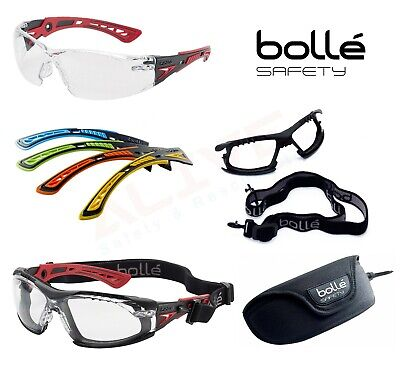 Bolle RUSH+ Safety Glasses Spectacles Goggles Eye Protection - Platinum Coating