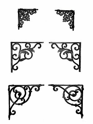 Heavy Duty Cast Iron Shelf Wall Brackets Support Victorian Style Decorative