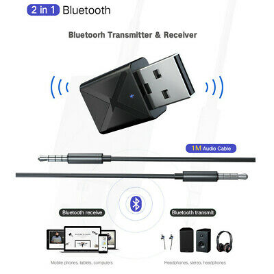 Bluetooth 5.0 Audio Receiver Transmitter Mini 3.5mm Stereo Bluetooth Adapter
