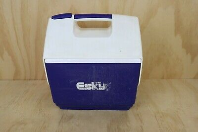 Vintage Nylex Malleys Plastic Blue Esky Cooler 6 Can Fold Down Esky