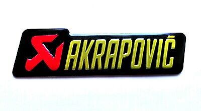 Akrapovic 3D Heatproof Badge Logo Sticker Graphic Decal Superbike Red Black