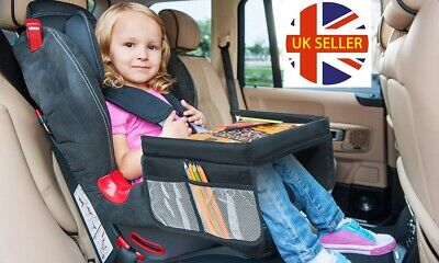 Kids Travel Lap Play Tray Organiser Car Seat Activity Snack Detachable Desk