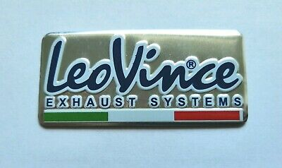 Leo Vince 3D Heatproof Exhaust Badge Sticker Graphic Decal Superbike Aluminium