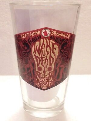This Auction is for One (1) Left Hand Brewing CO. Pint Glass Wake Up Dead Stout