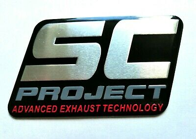 Sc Project 3D Heatproof Exhaust Badge Sticker Graphic Decal Superbike Aluminium