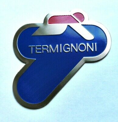 Termignoni 3D Heatproof Exhaust Badge Sticker Graphic Decal Superbike Aluminium