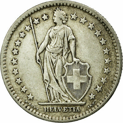 [#586021] Coin, Switzerland, 2 Francs, 1946, Bern, EF(40-45), Silver, KM:21