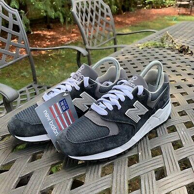 info for 6b0b2 370dd NEW BALANCE 999 Running Shoes Navy Grey White Made in USA Mens Size 4.5  M999CBL