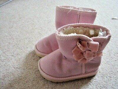 Girls pink  high boots ,size 22 ,UK 5 ,Young dimension