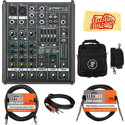 Mackie ProFX4v2 4-Channel Professional Effects Mixer w/ Gig Bag