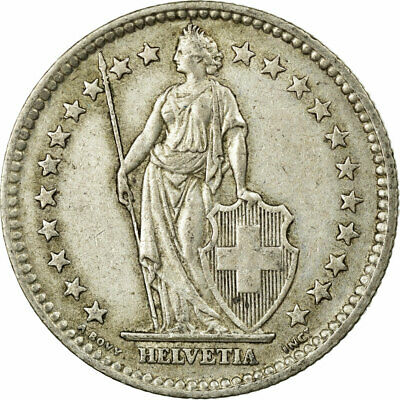 [#474058] Coin, Switzerland, 2 Francs, 1957, Bern, EF(40-45), Silver, KM:21