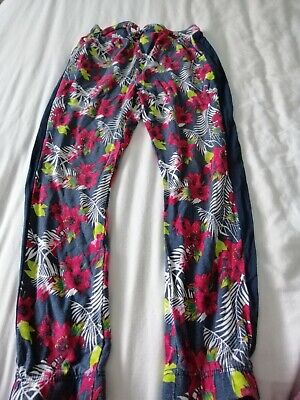 Girls Floral Trousers Age 5-6 Years