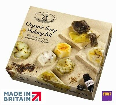 Hand Made Organic Soap Making Starter Kit Fragrance Scent Mould Dye Craft Hobby