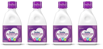 Similac Alimentum Hypoallergenic Formula w/ Iron, Ready to Feed, 32 oz (4 Pack)