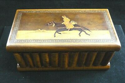 Circa 1880 Sorrento Ware Puzzle Box Unusual Inlaid Design  Hidden Compartment