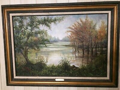 """Jean Richard Oil Painting """"Orlean"""" Gold Medal F.A."""