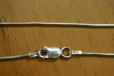 """24"""" 1.2mm Solid 925 Sterling Silver Round Snake Chain Necklace Made in Italy"""