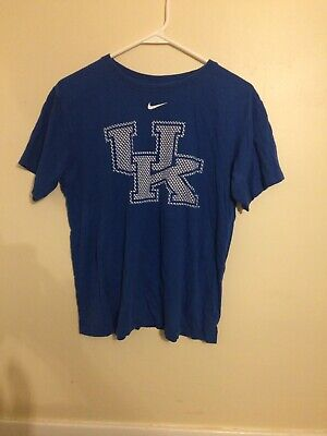 Nike Girls Kentucky Wildcats Shirt XL 20 Blue Short Sleeve Tee