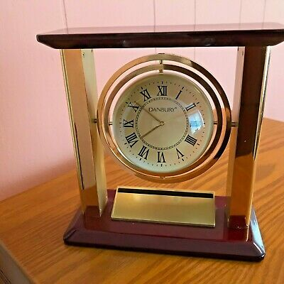 Clock Danbury Gimble Globe Desk/Mantle Clock Working