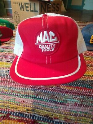 Vintage 80s Mac Tools Made in USA Paramount Cap MFG CO. Snapback Trucker Hat