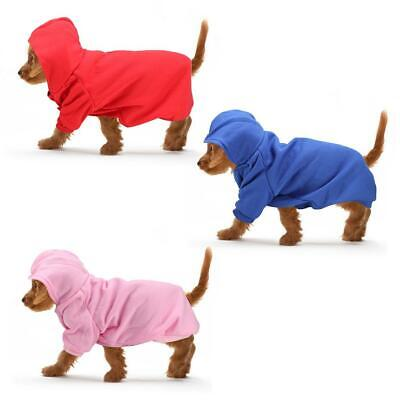 Pet Dog Puppy Warm Winter Soft Sweater Hoodie Jumpsuit Coat Clothes Outwear