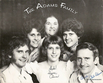 THE ADAMS FAMILY Autographed Photo - Singers - All Aboard LP - Bluegrass