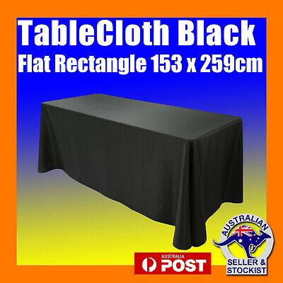 Tablecloths Rectangle Black Wedding 6ft Flat Table Cloths Event Market Trestle