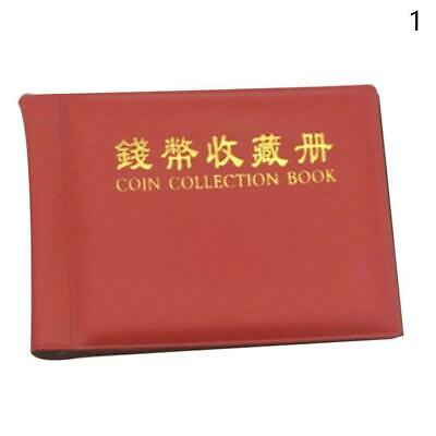 60 Openings Coins Album Holder Pocket Book Collecting Portable Storage Penn N4T1